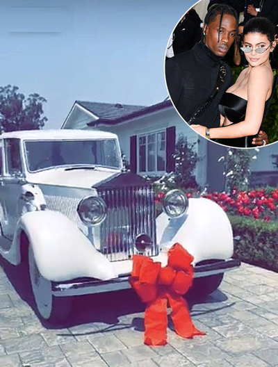 Ban trai tang Kylie Jenner xe Rolls Royce lam qua sinh nhat
