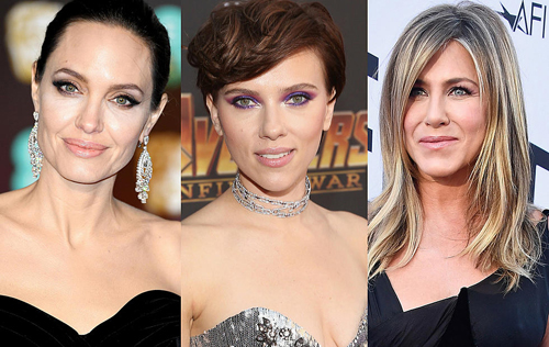Từ trái qua: Angelina Jolie, Scarlett Johansson, Jennifer Aniston - ba diễn viên được trả lương cao nhất 2018.
