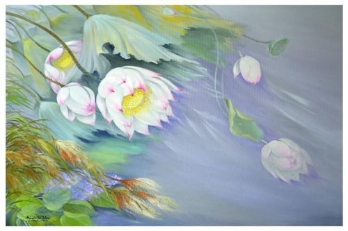 Một tác phẩm của họa sĩ Nguyễn Thị Tâm.