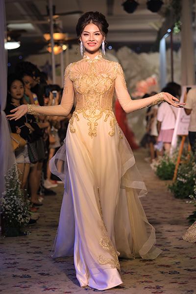 áo dài cưới cách tân của minh châu - 5