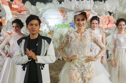 phan quốc an ra mắt váy cưới ren xuyên thấu - 9