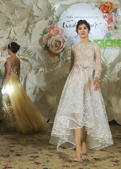 phan quốc an ra mắt váy cưới ren xuyên thấu - 5