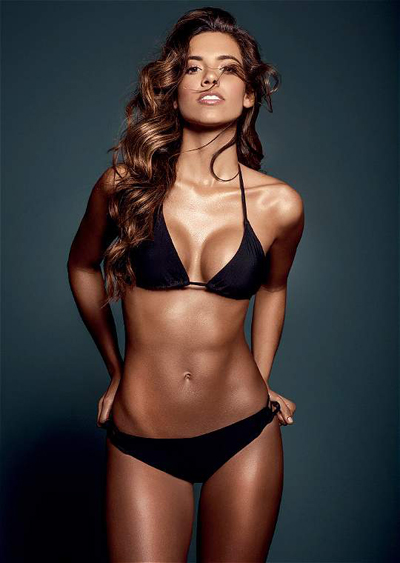 Thi sinh Hoa hau Colombia tha dang voi bikini