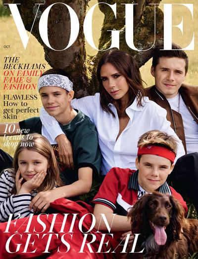 Ca nha Beckham len tạp chí