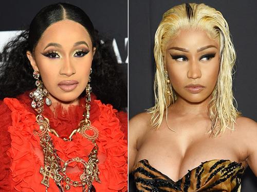Nicki Minaj khong kiẹn Cardi B vụ danh nhau tren tham do