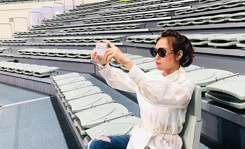 Mỹ Tâm khảo sát địa điểm diễn ra live concert đầu tiên của côtại Hàn Quốc.