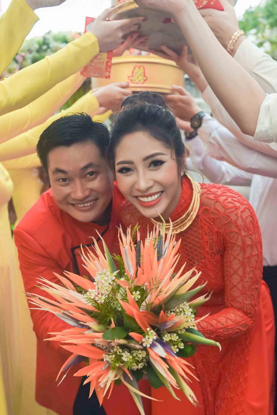 Lễ đính hôn của Hoa hậu Đại Dương Đặng Thu Thảo