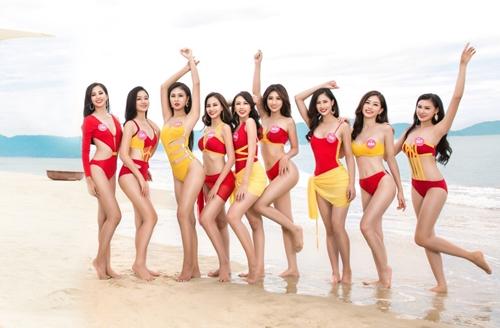Nhung khoanh khac bikini cua top ba Hoa hau Viet Nam 2018