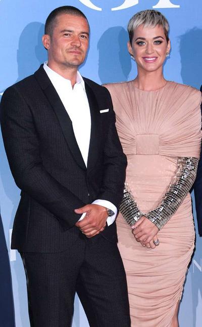 Katy Perry làn dàu cùng Orlando Bloom len thảm dỏ
