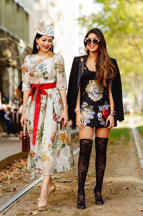 Thủy Tiên và con gái 'phủ' hàng hiệu tại Milan