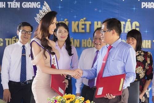 Phan Thi Mo quang ba du lich Tien Giang
