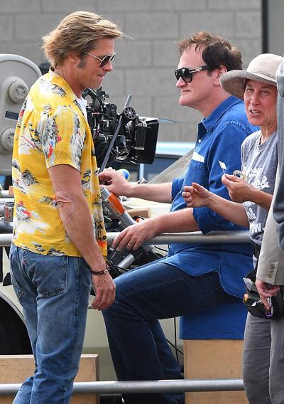 Đạo diễn Quentin Tarantino cùng đoàn phim làm việc liên tục tại phim trường từ hồi tháng 7.