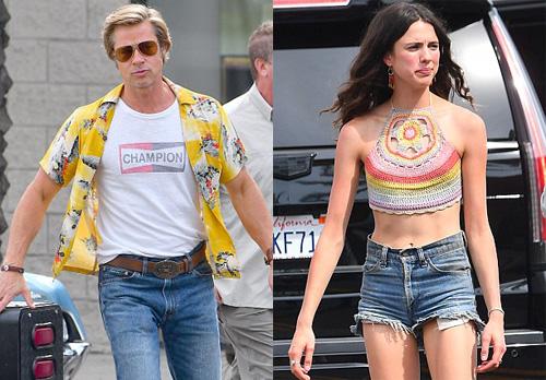 Margaret Qualley, 23 tuổi, là gương mặt mới của làng điện ảnh. Phim của Brad Pitt dự kiến ra mắt ngày 9/8/2019.