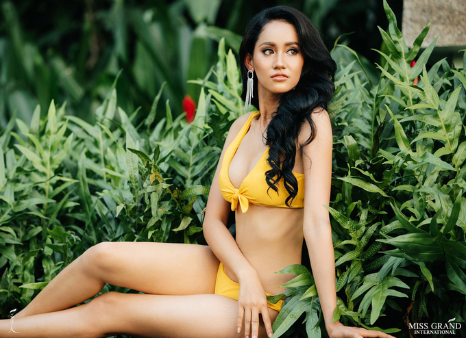 Phuong Nga dien bikini ben dan thi sinh Miss Grand International