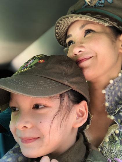 Hong Nhung dua hai con du lich Sri Lanka