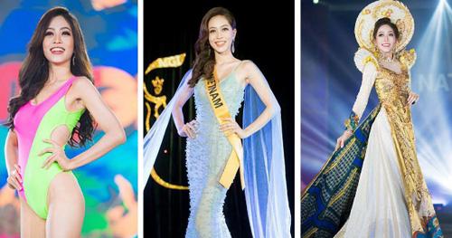 Phương Nga tại các phần thi bên lề chung kết Miss Grand International 2018.