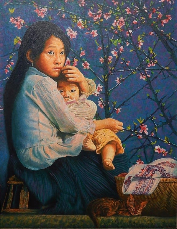 Net dep vung cao Viet Nam trong tranh son dau ta thuc