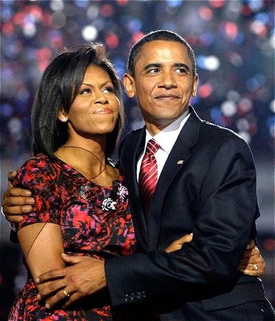 Vợ chồng Michelle và Barack Obama.