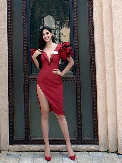 Tiẻu Vy giói thiẹu bản than bang tieng Anh tại Miss World
