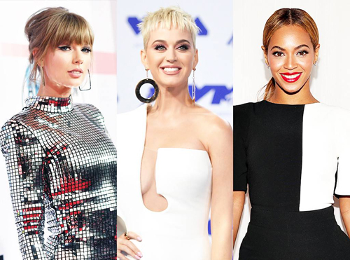 Katy Perry vuot Taylor Swift thanh ca si kiem tien nhieu nhat 2018
