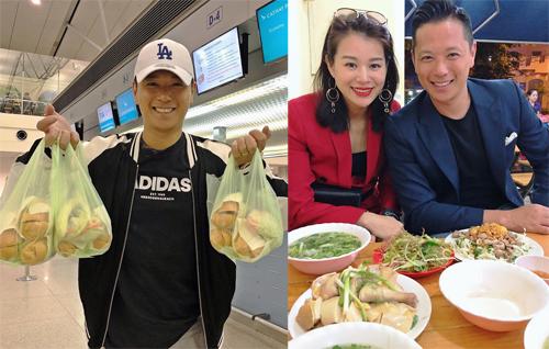 Vo chong Ho Hanh Nhi mang banh my Sai Gon ve Hong Kong