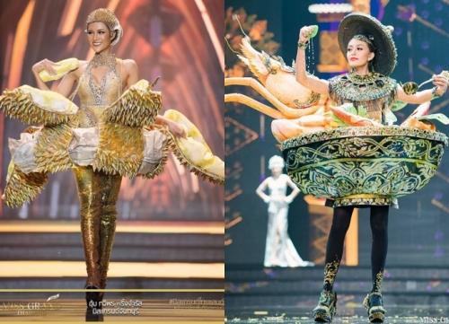 Trang phục dân tộc lấy cảm hứng từ món ăn Thái Lan.