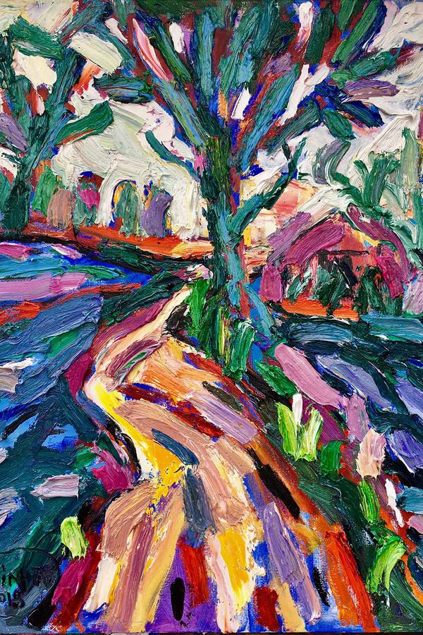 Phố núi, đồi thông Đà Lạt trong triển lãm tranh
