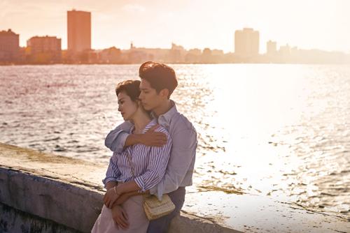 Park Bo Gum và Song Hye kyo trong phim Gặp gỡ.