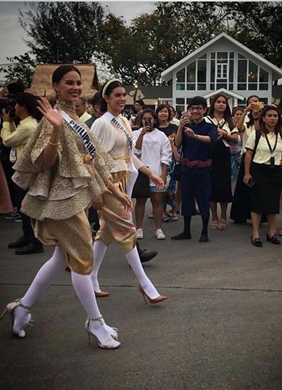 HHen Niê và dàn người đẹp Miss Universe diện váy truyền thống của Thái - ảnh 7