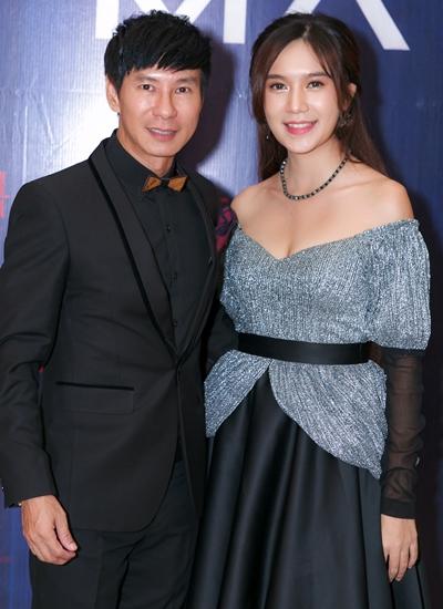 Vợ chồng Lý Hải - Minh Hà trong buổi ra mắt phim tại TP HCM.