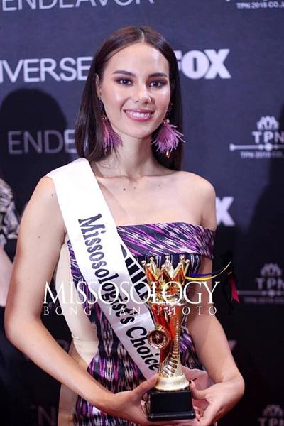 Mỹ nhan Philippines duọc yeu thích nhát tai Miss Universe