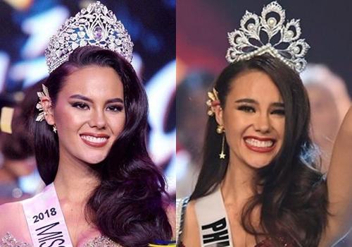 Catriona Gray đeo chiếc khuyên đặc biệt khi đăng quang Hoa hậu Hoàn vũ Philippines 2018 và Hoa hậu Hoàn vũ thế giới 2018.