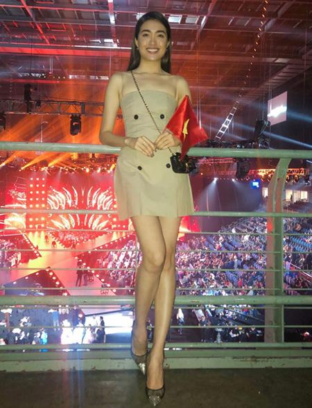 Á hậu Lệ Hằng. Cô từng là đại diện của Việt Nam thi Miss Universe 2016.