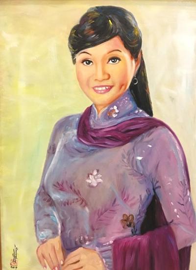 Thanh Tòng, Út Bạch Lan và hơn 100 nghệ sĩ qua tranh sơn dầu - 11