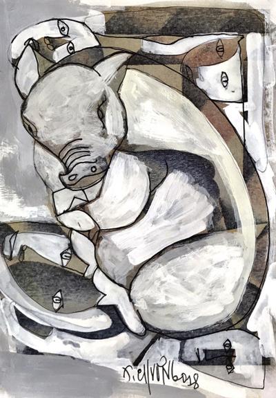 Minh họa của Thành Chương cho truyện Nhớ một tết xa  Ma Văn Kháng