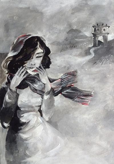4. Minh họa của Đặng Thu An cho truyện Về Phủ chiều cuối năm  Trần Thùy Mai