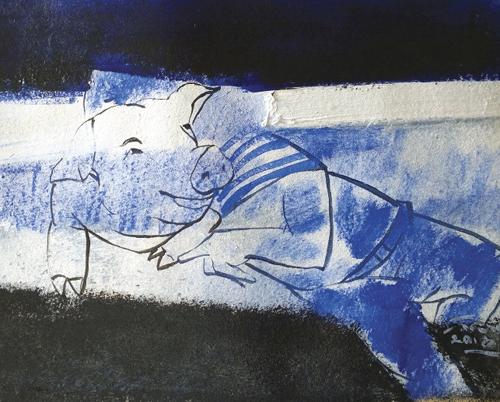 7. Minh họa của Lương Trung cho truyện Thằng heo trên tàu  Trương Anh Quốc