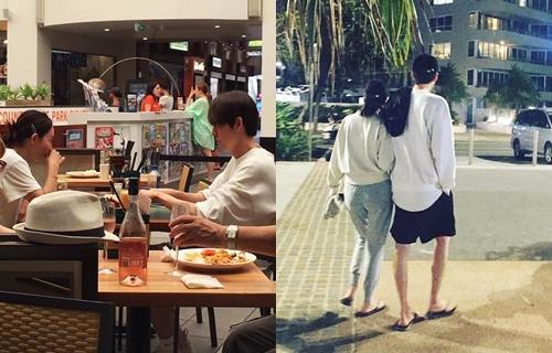 Kim Woo Bin va Shin Min Ah nghi duong tai Australia