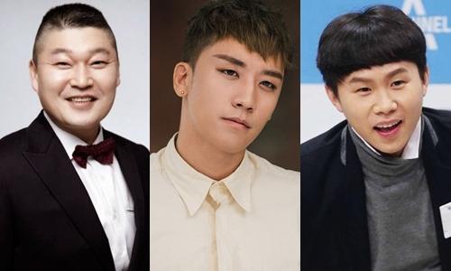 Ba thành viên chính thức của show We will channel you. Từ trái qua: Kang Ho Dong, Seungri, Yang Se Hyung.