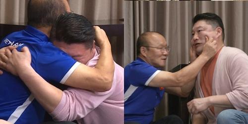 MC Kang Ho Dong mừng rỡ khi gặp HLV Park Hang Seo.