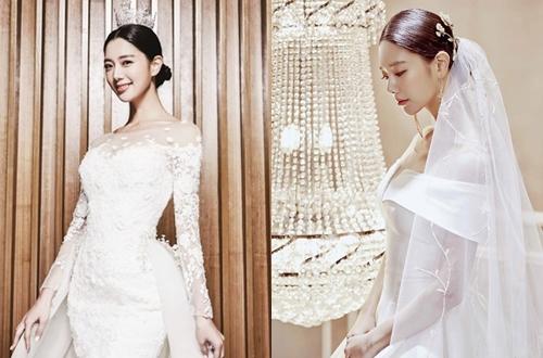 Váy cưới của Clara là các tác phẩm của Kim Mi Sook - nhà thiết kế tài năng xứ Hàn.