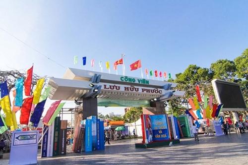 Công viên Lưu Hữu Phước - nơi tổ chức hội sách.