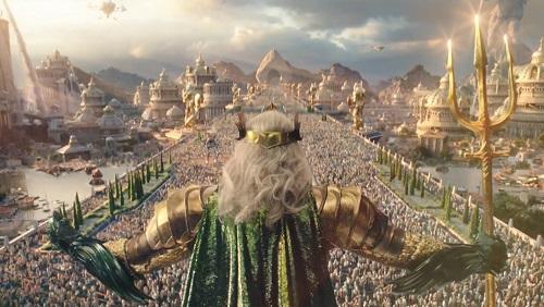 Ngoài các cảnh dưới nước, phim còn có một số trích đoạn đậm chất thần thoại.
