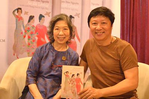 Nhà thiết kế Sĩ Hoàng và tác giả Phạm Thảo Nguyên.