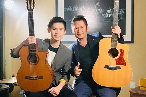 Bằng Kiều bên con trai - Beckam Nguyễn.