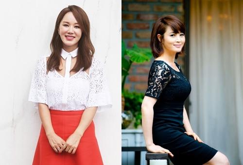Uhm Jung Hwa và Kim Hye Soo (trái).
