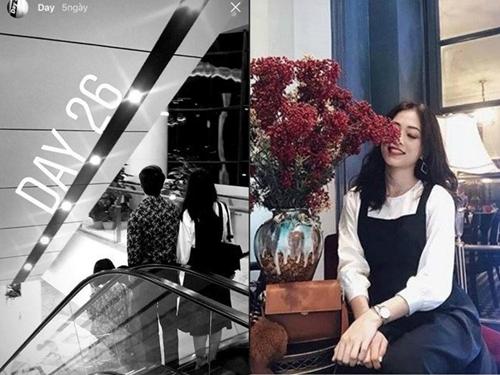 Trên Instagram, Bình An đăng tảinhiều khoảnh khắc lãng mạn giữa anh vàbạn gái giấu mặt. Từ các bức ảnh nắm tay, đeo nhẫn đôi, mặc áo đôi..., khán giảphát hiện cô gái nàycó nhiều điểm tương đồng với Phương Nga về vóc dáng, trang phục...