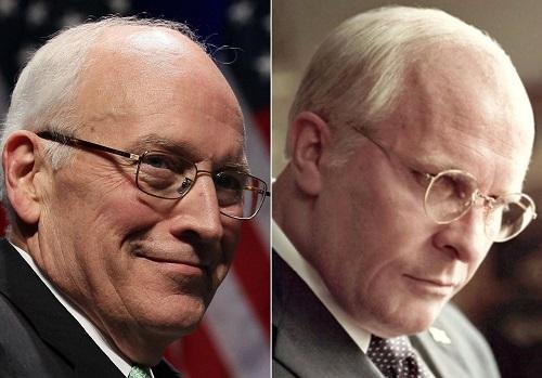 Dick Cheney (ngoài đời) và hình tượng do Bale hóa thân.