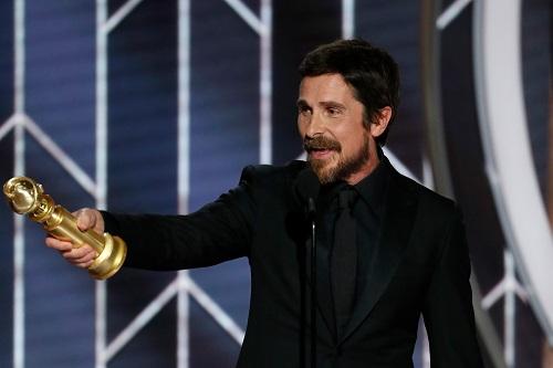 Bale thắnggiải Quả Cầu Vàng. Anh cùng Rami Malek (Bohemian Rhapsody) là ứng viên nổi bật nhất cho giải Oscar nam chính.