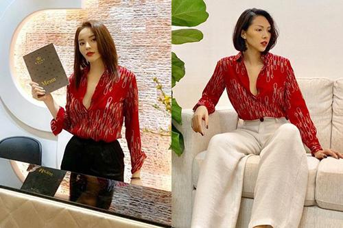 Kỳ Duyên, Minh Triệu mặc ngày càng giống nhau - 8
